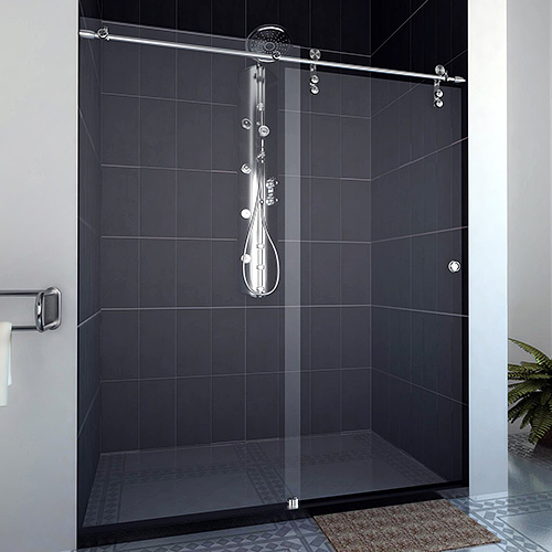 showerhaus frame less glass showers shower sliding